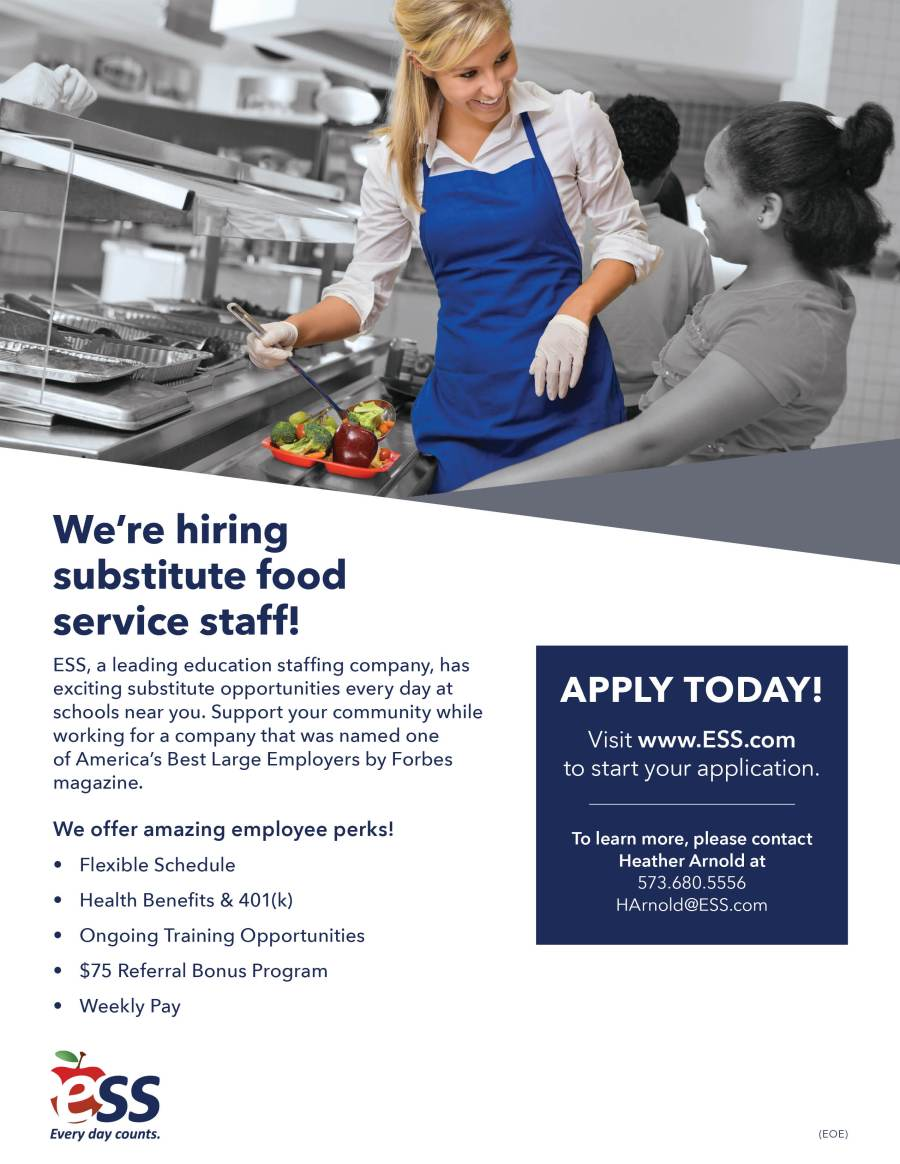 FOOD SERVICE STAFF – The Daily Classifieds